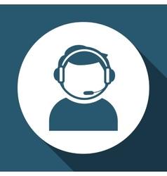 call center icon design vector image