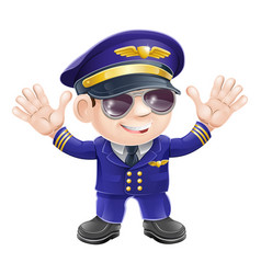 Cartoon airplane pilot vector