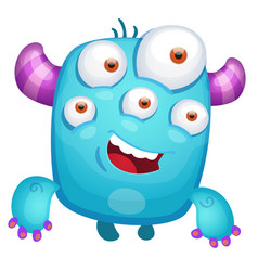 cartoon cute monster vector image