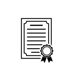 certificate icon achievement award diploma symbol vector image