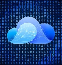 Cloud computing sign vector image