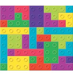 colorful plastic blocks vector image