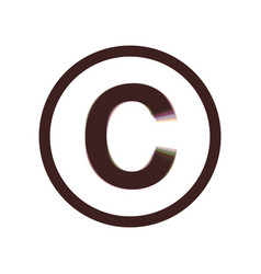 Copyright sign colorful icon vector