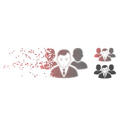 damaged pixel halftone office team icon vector image