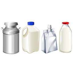 Different milk containers vector