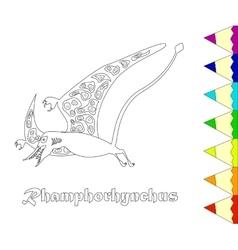 Dinosaur Rhamphorhynchus vector