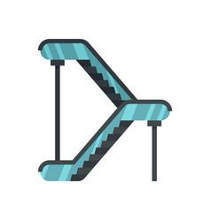 Double escalator icon flat style vector