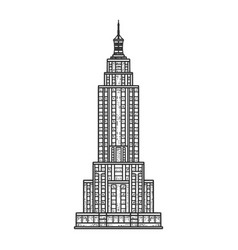 empire state building sketch vector image