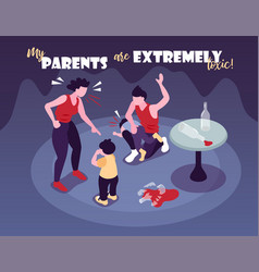 Extremely toxic parents background vector