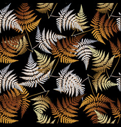 fern leaves seamless pattern floral vector image
