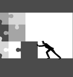 final piece puzzle vector image