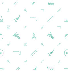 Geometric icons pattern seamless white background vector
