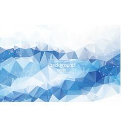 Geometric light blue polygonal background vector