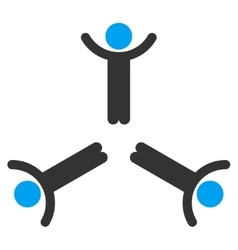 Hands Up Men Icon vector image