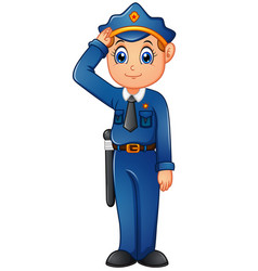 Happy police cartoon vector