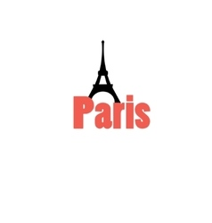 icon with word paris vector image