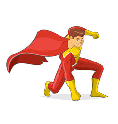 male superhero cartoon vector image