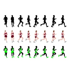 Marathon runner vector