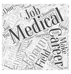 Medical career forum Word Cloud Concept vector