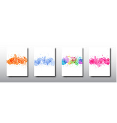 Modern template design with colorful splash vector