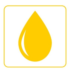 Oil drop flat icon 1 vector image