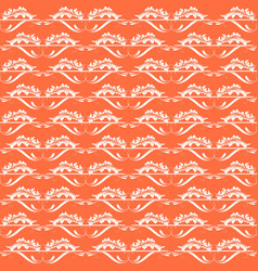 Orange and shiny gold ornamental swirl background vector