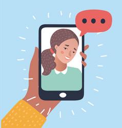 phone conversation flat vector image