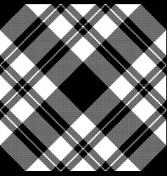Pixel seamless fabric texture black white vector