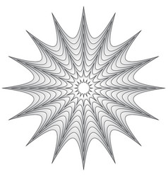 Radial geometric element radiating lines vector