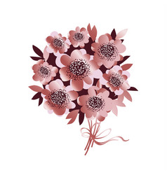 rose gold color flower bunch vector image