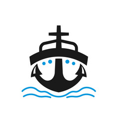 sea ship transportation logo vector image
