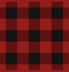 seamless black dark and bright red tartan vector image