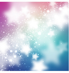 Starry background smooth and blured stars on blue vector