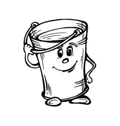 stylized image of bucket with water vector image
