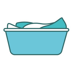 Tank for soaking in laundry vector