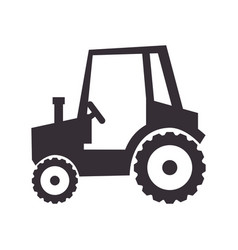 Tractor farm vehicle isolated icon vector