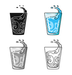 Transparent glass with water water to take my vector