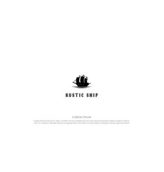 vintage retro rustic sailing ship silhouette logo vector image