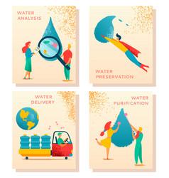 Water character set 1 vector