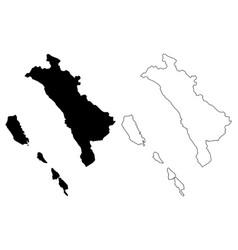 West sumatra map vector