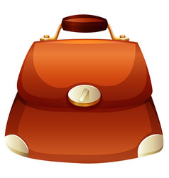 Woman purse in brown color vector