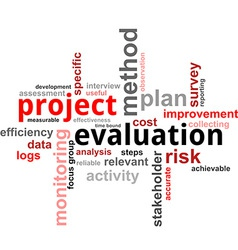 word cloud project evaluation vector image