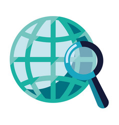 world magnifier analysis vector image