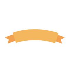 yellow ribbon banner decoration icon vector image