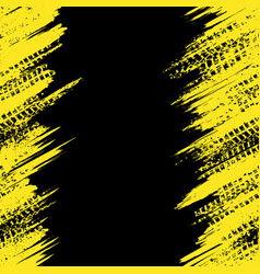 Yellow tire track wallpaper vector