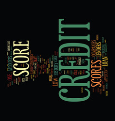 Your credit scores again text background word vector