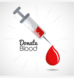 blood donation days icon vector image