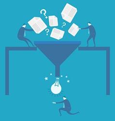 Business man idea concept vector image
