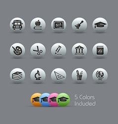 Education Icons Pearly Series vector image vector image