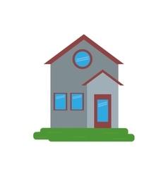 Family house facade residential design vector